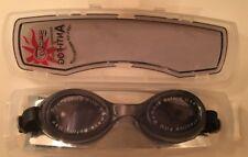 932253768c82 Black Swimming Goggles Saeko S8 Anti-Fog 100% UV Protection Adjustable Cased  NEW