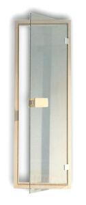 Saunatuer-Glas-Sauna-Tuer-Glastuer-Tuerrahmen-Tuergriff-Rollverschluss-Tuer-klar-6mm
