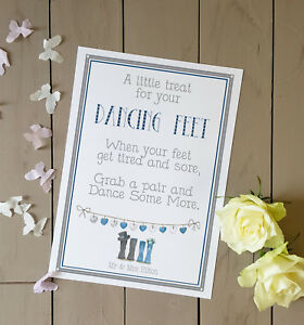 086e22cc7a9739 Personalised blue welly wedding sign a little treat for your dancing ...