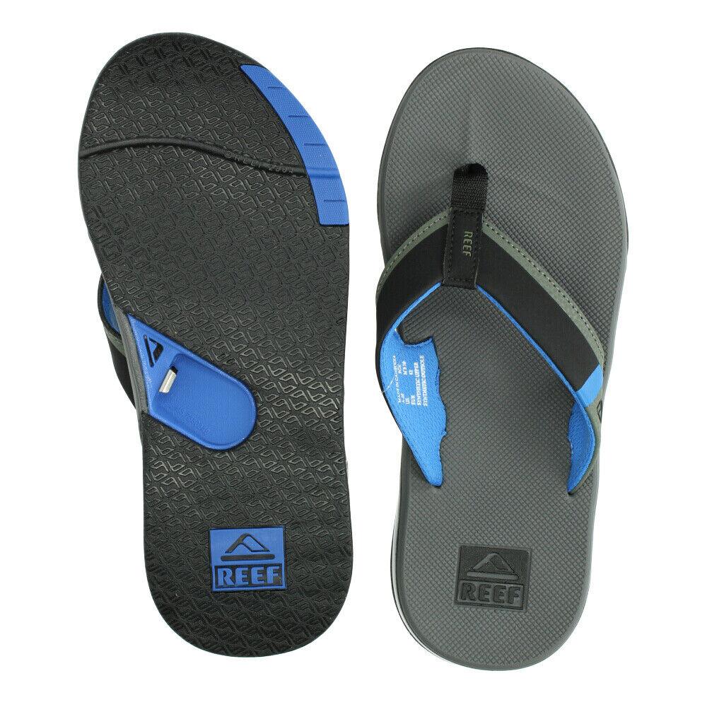 Reef Sandals - Men's Flip Flops - Fanning - Grey/Blue - RF0A3KIHGBL - GBL