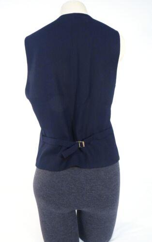 Sur Foncé Gilet Nwt Bleu Pour En 6 Pure Ralph Le Laine Femmes Laruren Bouton Lauren Devant PCHWq