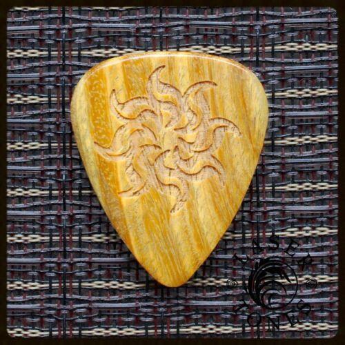 Timber Tones Laser Etched Wooden Guitar Pick Plectrum