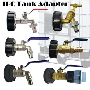 IBC-Tank-Adapter-S60X6-To-Garden-Tap-With-1-2-034-3-4-034-1-034-Hose-Fitting-Fuel-Water