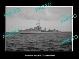 OLD-POSTCARD-SIZE-AUSTRALIAN-NAVY-PHOTO-OF-THE-HMAS-ARUNTA-SHIP-c1946