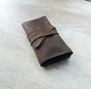 Leather-watch-roll-Travel-watch-roll-Watch-storage-Leather-watch-case-gift