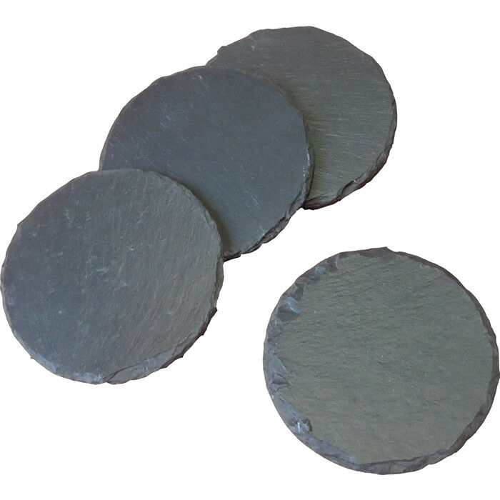 80x Rustic Natural Slate Round Round Round Coasters Coffee Mug Drinks Cup Table Mat Bulksale a8b7df