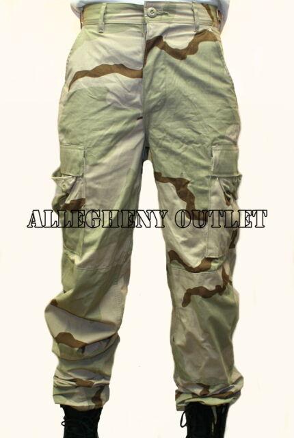 Propper BDU Trouser Button Fly F5201 3-Color Desert Camo 100/% Cott RipStop DCU