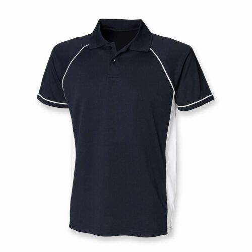Finden And Hales Performance Contrast Panels Polo Shirt Mens Sports Poloshirts