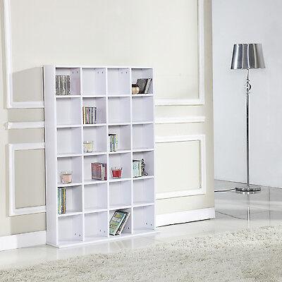 DVD CD Media Storage Shelves Racks Wood Cabinet Shelving Bookcase Display Unit