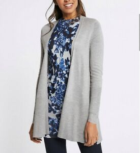 M-amp-S-Women-Cardigan-Longline-Round-Neck-Long-Sleeve-Top-Soft-Knit-RRP-30-BR179