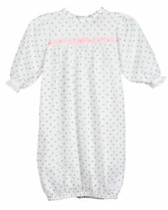 Baby-Girls-Rosebud-Jersey-Infant-Sacque-Sleeper-PR-NB