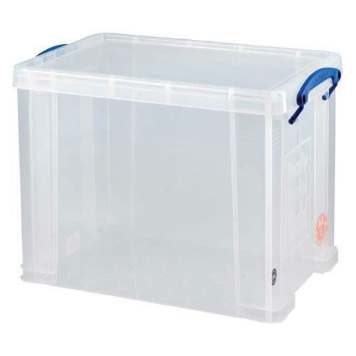 """CAN HOLD 12/"""" RECORDS 24h 15 x  /'REALLY USEFUL STORAGE BOXES/' 19 LITRE NEW"""