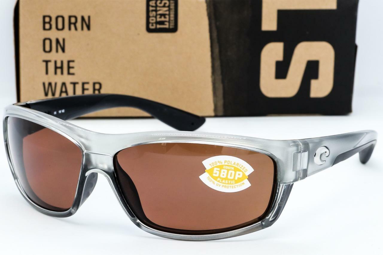 New Costa Del Mar SaltBreak Polarized Sunglasses 580P Crystal Blue//Grey Fishing