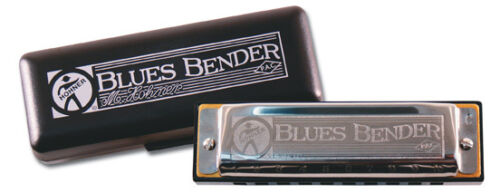 HOHNER BLUES BENDER HARMONICA KEY OF Bb-PATENTED ACOUSTIC COVERS-GREATER VOLUME