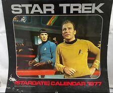 1977 Star Trek TV Series 12 Month Stardate Calendar Used Shatner Nimoy Spok Kirk