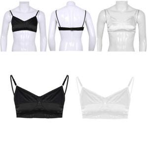 Mens-Sissy-Cross-Dresser-Male-Training-Bra-Wire-free-Bralette-Crop-Top-Lingerie