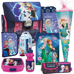 frozen anna elsa schulranzen schulranzenset tornister ranzen schult te set 9 ebay. Black Bedroom Furniture Sets. Home Design Ideas