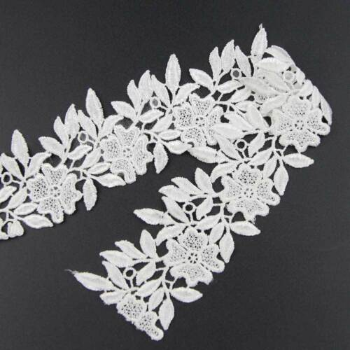 2 Yards Spitze Weiß Spitze Borten Blumen Handarbeit Nähen Spitzenborte deko SALE