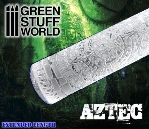 Mattarello con Stampo AZTECO - rullo basetta modellismo warhammer lucertole