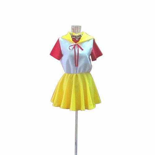 Magical Angel Creamy Mami Mahou no Tenshi Yu Morisawa Dress Cosplay Costume *d