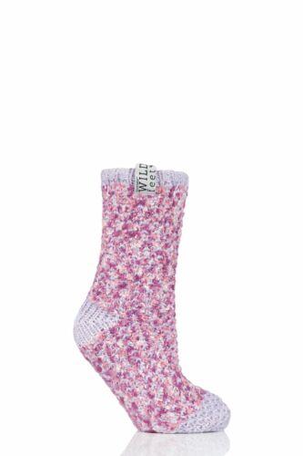 Femmes 1 Paire Sockshop sauvage pieds Polaire Doublé Chaussons Chaussettes