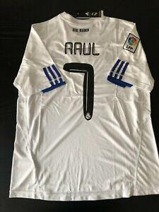 Maglia calcio retrò Raul Real Madrid | eBay