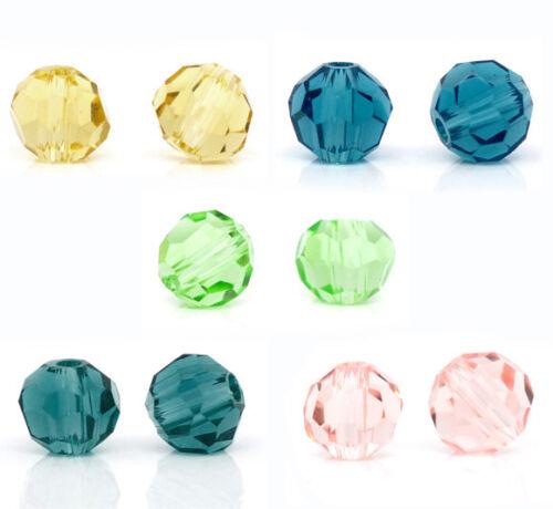200 Neu Mix Kristall Glasperlen Schliffperlen Facettiert Beads Rhombe 4mm