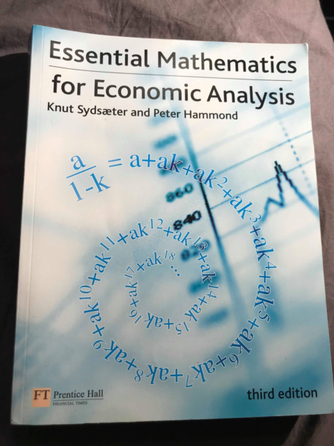 Essential Mathematics , Knut Sydsæter og Peter Hammond, år…