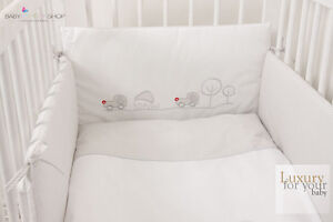 Image Is Loading Luxury Nursery Baby Cot Bedding Set Embroidered Unique