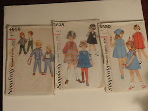 Girls-Size-5-3-Cut-Patterns-Girls-Clothing-Jumpers-Overalls