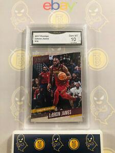 2017-Prestige-Lebron-James-16-10-GEM-MINT-GMA-Graded-NBA-Basketball-Card