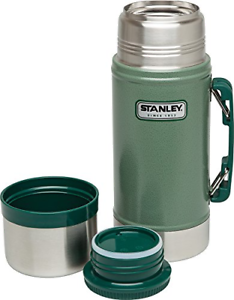 STANLEY Classic Wide Mouth 24 oz Stainless Vacuum Bottle Canteen Thermos