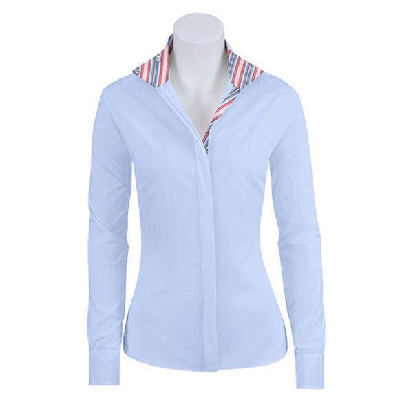 SP413C-J RJ Classics Girls Spruce Jr. blueee Stripe Trim L S English Show Shirt