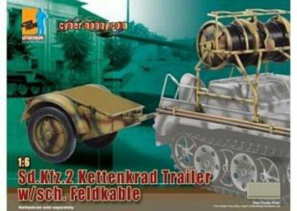 Dragon 1//6 scale WWII German Sd.Kfz.2 Kettenkrad Trailer w// sch Feldkable 71255