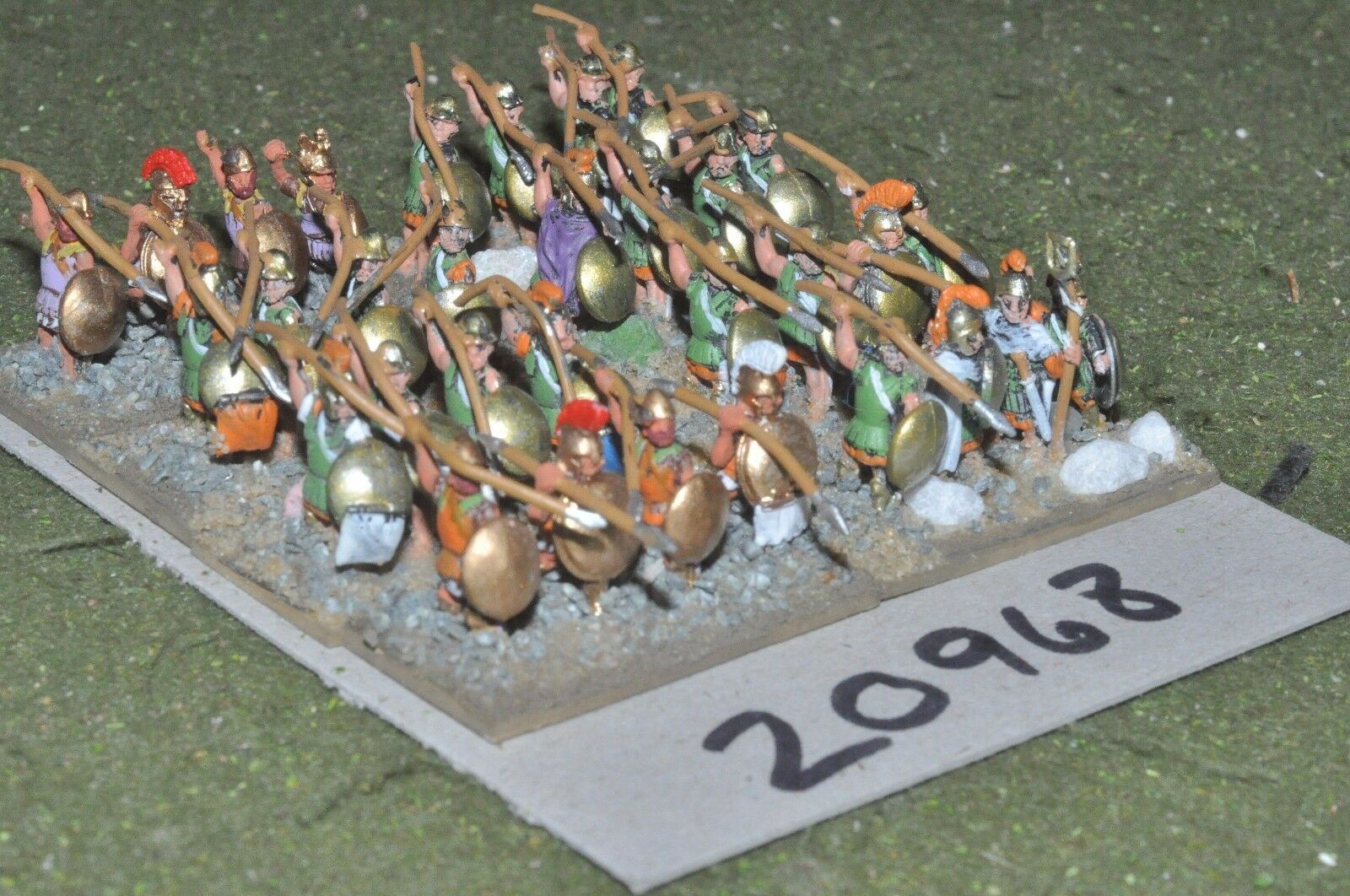 15mm classical   greek - ancient hoplites 32 figs - inf (20968)