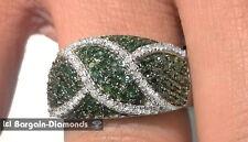 green white diamond .75 carat 10k white gold anniversary ring Red Carpet band
