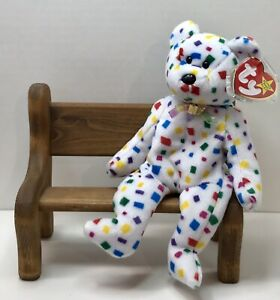 January 1st TY Beanie Baby Ty 2K The Bear With Tag Retired   DOB 2000