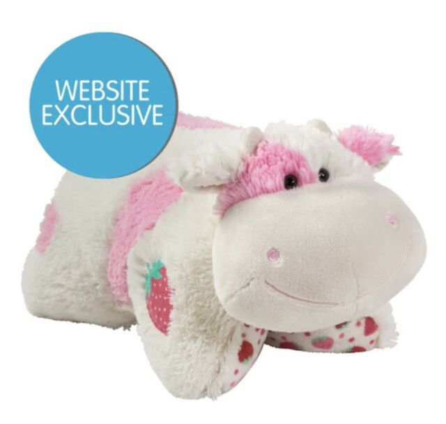 """Strawberry Milkshake Cow Pillow Pet 18"""" Sweet Scented NEW IN HAND SHIPS NOW"""