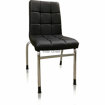 Vital Dining Room Furniture - Faux Leather Chrome Legs 1 2 4 6 Dining Chairs