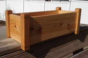 Image Is Loading Cedar Flower Deck Rail Floor Planter 24 034