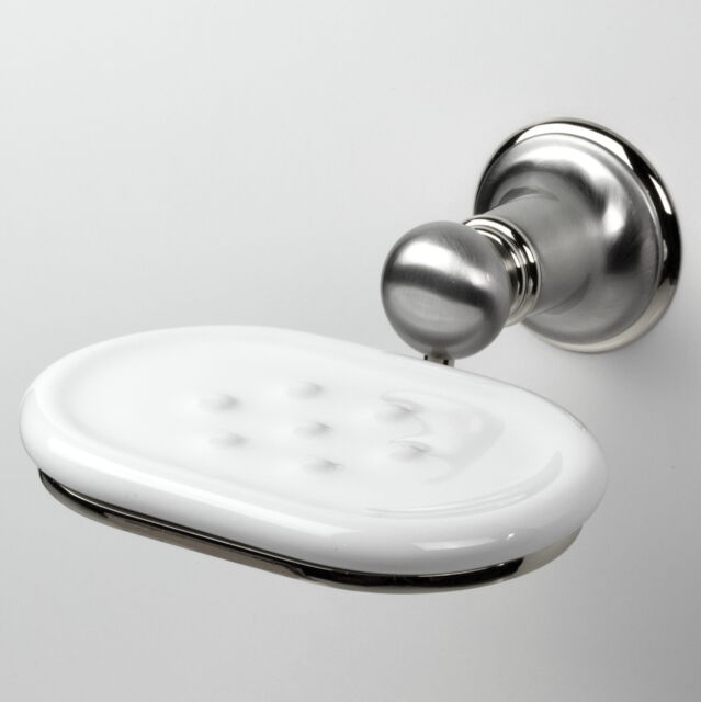 Franz Viegener 168/69PC Toulouse Wall-Mount Soap Dish, Brushed Nickel & Chrome