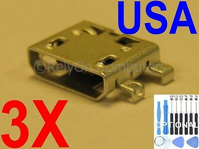 3 X New Micro USB Charging Sync Port Acer Iconia One 10 B3-A20 B3-A20B A5008 USA