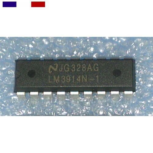 Lm3914 n-1 Bargraph vumètre 1 ou 2 Pcs