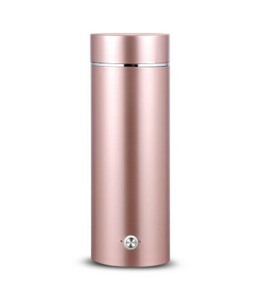 Pink Stainless Steel Rechargeable Mini 300W 0.35L Electric Kettle Height 21CM