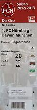 TICKET 2012/13 1. FC Nürnberg - Bayern München