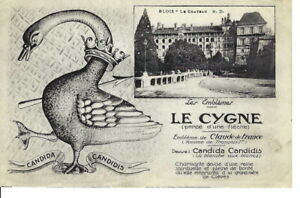 CK-092-Le-Cygne-Goose-Candida-Candidis-France-Advertising-Divided-Back-Postcard