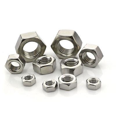 304//316 Stainless Steel DIN934 Hexagon Nut Hex Nut M2 M2.5 M3 M4 M5 M6 M8 M10