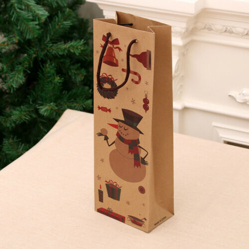 Dinner Party Christmas Santa Gift Bag Xmas Table Decoration Wine Bottle Cover