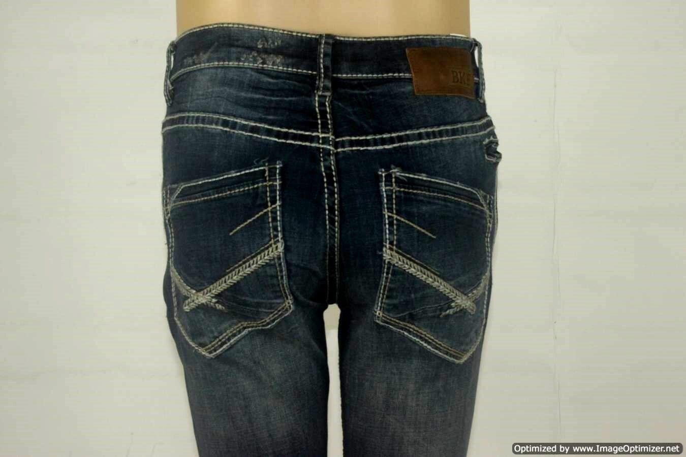 BKE Denim Jeans - AIDEN Slim Fit Bootcut - Stretch  - Size 27R - W  27 x L  33