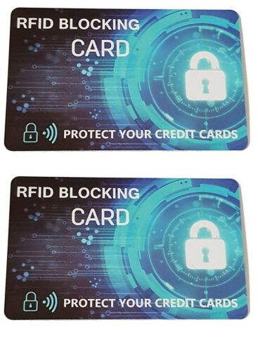 Protect your contactless credit card from scammer 2 Packs RFID Blocking Card